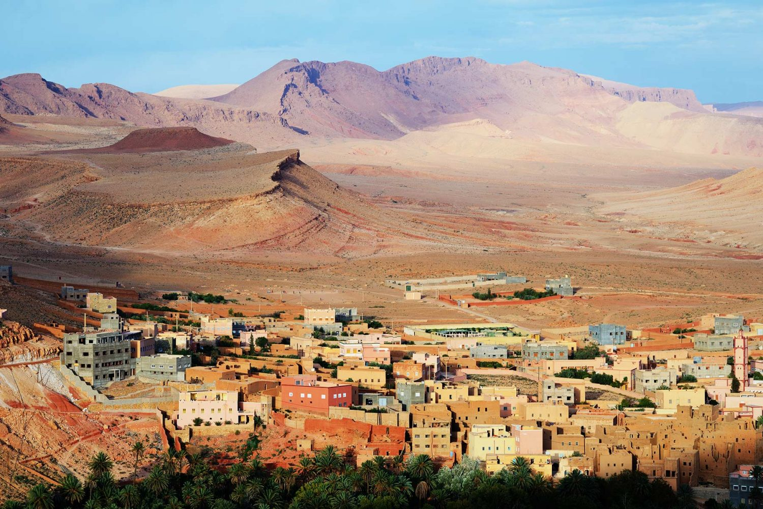 Morocco City Tinghir in the Atlas Mountains
